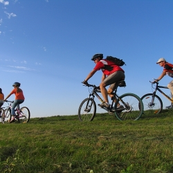 Centre based mountain cycling in Sudetes Mountains